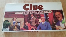 1986 Vintage Clue Board Game Parker Brothers Classic Detective Game - Pa... - $5.89+