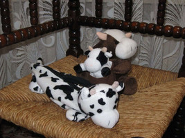 Various Set of 3 Cow Plush Keychain Phone Holder Pencil Case - $64.60