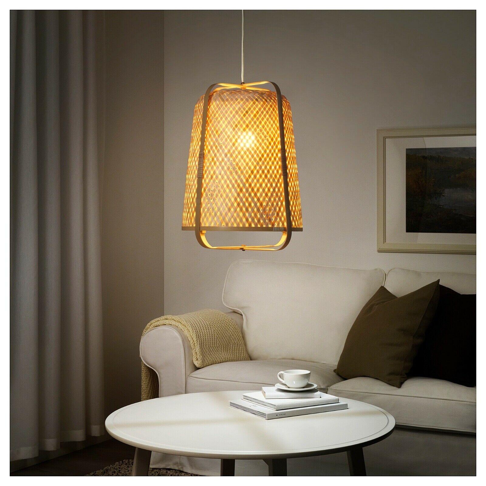 "IKEA KNIXHULT Pendant lamp 21"", Bamboo, 604.071.34 - BRAND NEW"