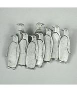 JJ Penguin Brooch 2 In Women's Pin Bird Gray Pewter 1984 Vintage Silvertone - $14.84