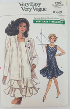 Vogue 7202 Misses Jacket Dress Sewing Pattern Sizes 8 - 10 - 12 - $9.77
