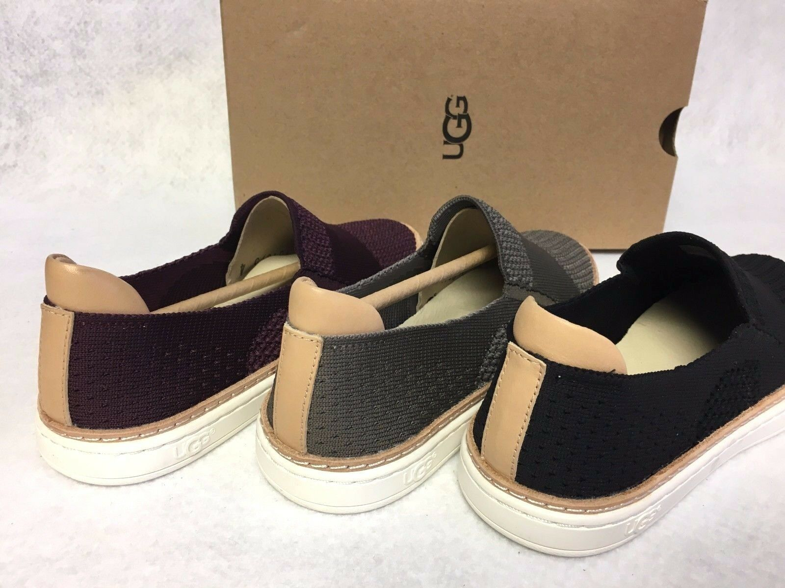 UGG Australia Sammy Slip On Hyper Weave Casual Sneakers 1016756 Black Port Slate
