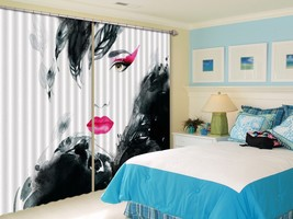 3D Beautiful Woman 01 Blockout Photo Curtain Print Curtains Drapes US Lemon - $177.64+
