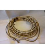 Cowboy Rodeo Rawhide Leather Lariat 68 - 70 Ft Lasso Ranch Soga Cuero Cr... - $895.00