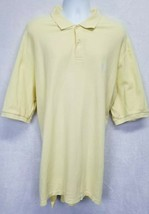 Chaps Men's Polo Golf Shirt Short Sleeve Canary Yellow 3XL Tall - $24.00