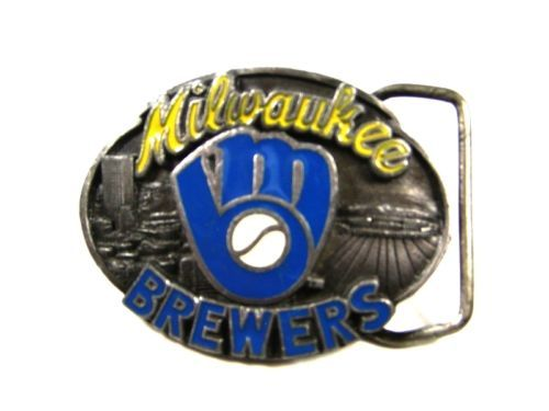 1989 Milwaukee Brewers Officially Licensed Belt Buckle by Siskiyou 102315
