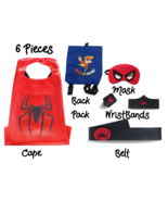 Super Hero Capes for Kids Halloween Costumes | 5pc Set | Red Spider Boy ... - $17.81