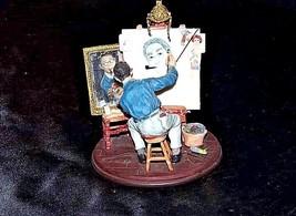 Figurine of a Triple self-portrait by Norman RockwellAA18-1355 Vintage image 2