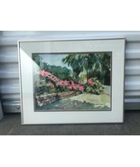 Vera Gilbert Original Signed Watercolor Painting Pink Tropical Flowers F... - $98.01