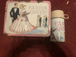 Vintage 1967 CAMPUS QUEEN MAGNETIC GAME LUNCHBOX & THERMOS / KING SEELY - $23.02