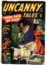 UNCANNY TALES #8-1953-JOE MANEELY-EXECUTION-FACE REMOVAL-WILD - $117.95