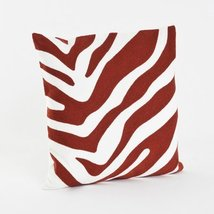 Crewel Work Zebra Patterned Decorative Down Filled Throw Pilow (Brick) - $34.64