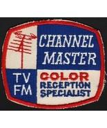 Vintage uniform patch CHANNEL MASTER Color Reception Specialist TV FM an... - $6.99