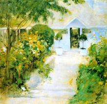A Garden Path, 1897-99 - 24x32 inch Canvas Wall Art Home Decor - $51.99