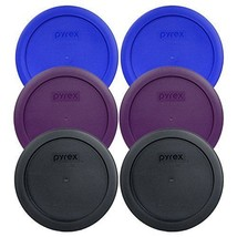 Pyrex 7201-PC Round 4 Cup Storage Container Lids for Glass Bowls 2-Light... - $24.69