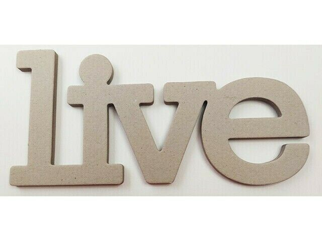 The Paper Studio Chipboard Live Word, 12 Inches #328195