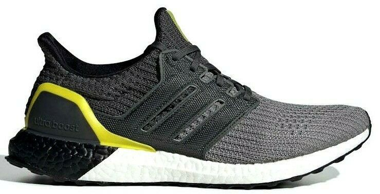 "Primary image for ADIDAS ULTRABOOST 4.0 ""GREY/BLACK/YELLOW"" SIZE 9.5 BRAND NEW W/BOX $180 (G54003)"