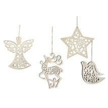 Enesco Flourish Hanging Ornament, 3-Inch, Set of 4