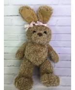 Build a Bear First Edition Curly Beige Tan Bunny Rabbit Plush Faux Leath... - $19.79
