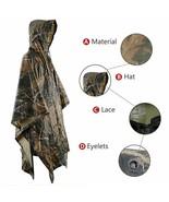 Camouflage Raincoat Rain Poncho Raincoat Hunting Fishing Hiking - $94.05