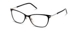 Marc Jacobs Marc 64 65Z Eyeglasses Shiny Black Silver Frame 53mm - $98.99
