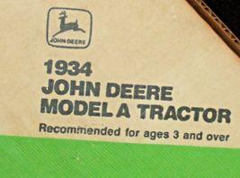 ERTL John Deere Die-cast 1934 Model A Tractor 1:16 Scale AA20-JD2084 image 8