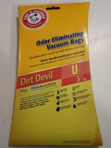 Arm & Hammer Vacuum Bags Dirt Devil U NEW 3 in Package! Free Shipping! - $7.73
