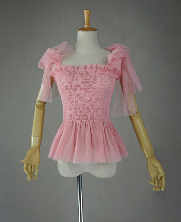 Tulle top pink 5