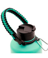 Teal Paracord Handle for Hydro Flask Wide Mouth Water Bottles 12oz - 64oz - £11.39 GBP