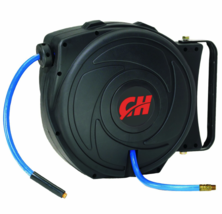 Air Hose Reel with Retractable 50 Foot Hose, 3/8 Inch ID, Mountable, Swivel - $39.40