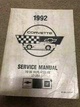 1992 Chevrolet CHEVY CORVETTE Service Repair Shop Workshop Manual Worn OEM - $29.65