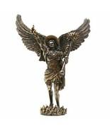 PTC 12.75 Inch Archangel Uriel with Spear Religious Resin Statue Figurine - £42.04 GBP
