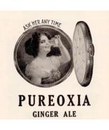 Pureoxia Ginger Ale 1923 Soda Ad Pocket Watch Graphic Arts Decor Adverti... - $15.99