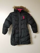 US Polo Association Girls' Little Long Bubble Jacket, Black, 6X - $11.64