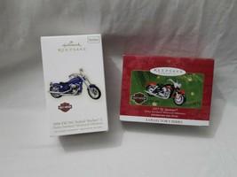Hallmark Keepsake Harley Davidson Set of 2 Softail & Sportster Ornament - $39.95
