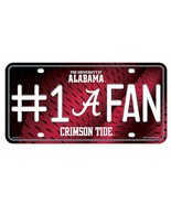 Alabama Crimson Tide #1 Fan License Plate - $11.84