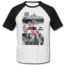UNITED KINGDOM YORK - NEW BLACK SLEEVED BASEBALL COTTON TSHIRT - $19.53