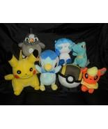 Packung mit 7 Pokemon Plüschtier Plüsch Spielzeug Pikachu Pokeball Piplu... - $38.79