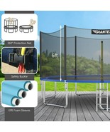 15 ft Outdoor Trampoline Combo with Bounce Jump Safety Enclosure Net and Spring  - $647.93