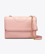 Tory Burch Fleming Small Convertible Shoulder Bag- Shell Pink - $6.024,11 MXN