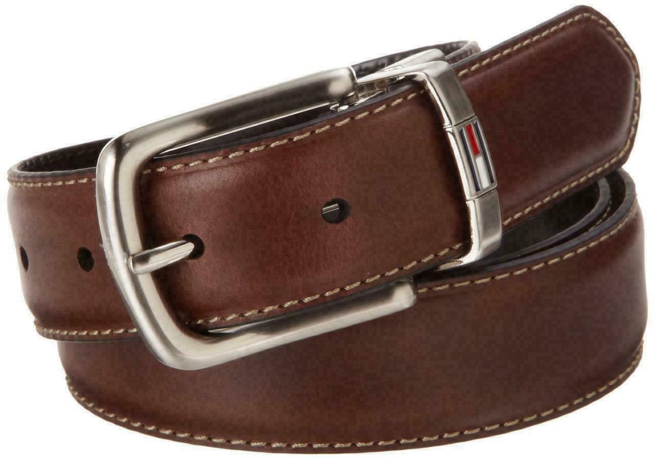 Tommy Hilfiger Men's Premium Reversible Belt Brown/Black 11TL08X014