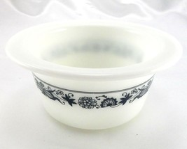 Pyrex 75 Old Town Dish Blue Wide Extended Rim Crock Style Bowl ~ Made in... - $12.95