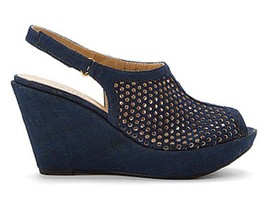 Vaneli Emmalee Bluette Leolcork Wedge Sandal , Size US 6.5 W - $42.06