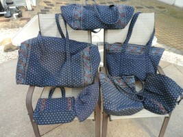 Vera Bradley awesome travel set in retired Classic Navy - 7 pieces - $195.00