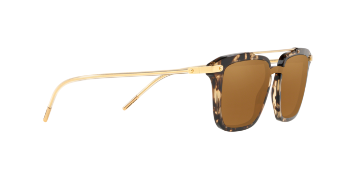 DOLCE & GABBANA PRINCE 4327 Gold Beige Havana Mirrored Sunglasses DG4327-F Men image 6