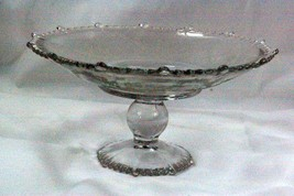 Paden City 1930 Pams Floral Clear AKA Heather And Primrose Footed Compot... - $62.36