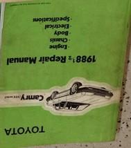 1988 1/2 Toyota Camry Service Repair Shop Workshop Manual OEM Factory  - $16.83