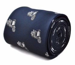 Frederick Thomas Navy Mens Tie with Scooter Design FT1787