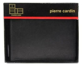 BRAND NEW PIERRE CARDIN MEN'S LEATHER CREDIT CARD WALLET PASSCASE BLACK 5971-01
