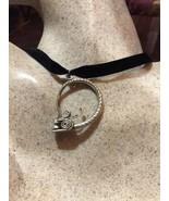 Vintage Argent Bronze Repos Dragon Serpent Amulette Pendentif Collier - $64.39